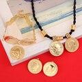 Etíope de Oro Sistemas de La Joyería de La Moneda Etíope Coin Coin Set Collar Colgante Anillo Pendientes Pulsera de La Joyería