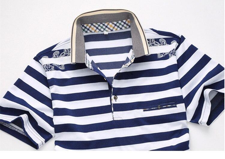 ⊱GOUHAI Camisas Dos Homens do Polo de Verão 2017 Listrado Camisa ... a78c7f54d1b