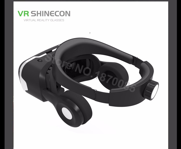 Newest VR Shinecon 4.0 Google cardboard VR BOX with Headphone VR Virtual Reality 3D Glasses PK Z4 For 4.5-6.0 inch Smartphone (14)