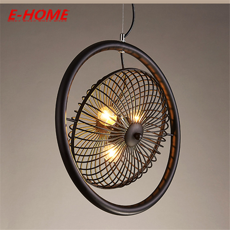 Loft WROUGHT IRON Ancient Fans A Industry Continuous System Restaurant Platform Cafe Originality Northern Europe Pendant simple post modernity iron restaurant bar cafe originality personality northern europe annular hall chandelier freeshipping