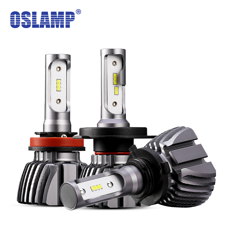 Oslamp LED H4 Voiture Ampoules 6500 K Tout-en-un H7 LED Phare Sans Ventilateur Auto lampes SUV 50 W CSP Puces H11 Brouillard Lampe 9005 9006 H3 H1 led