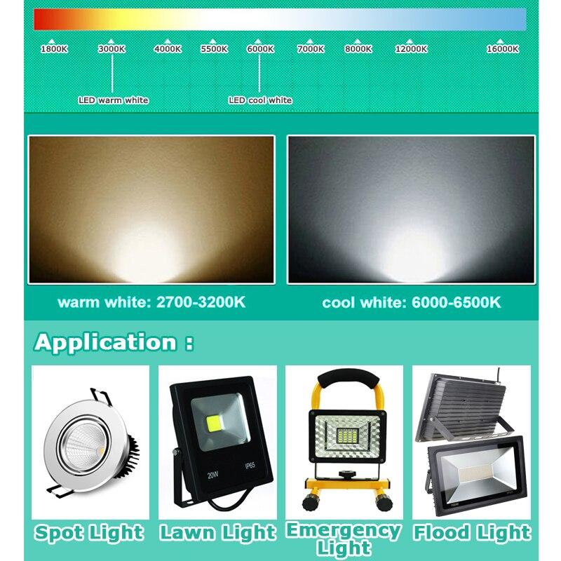 Smart IC SMD жарықдиодты шамдары 10W 20W 30W 50W - Жарықтандыру керек-жарақтары - фото 5