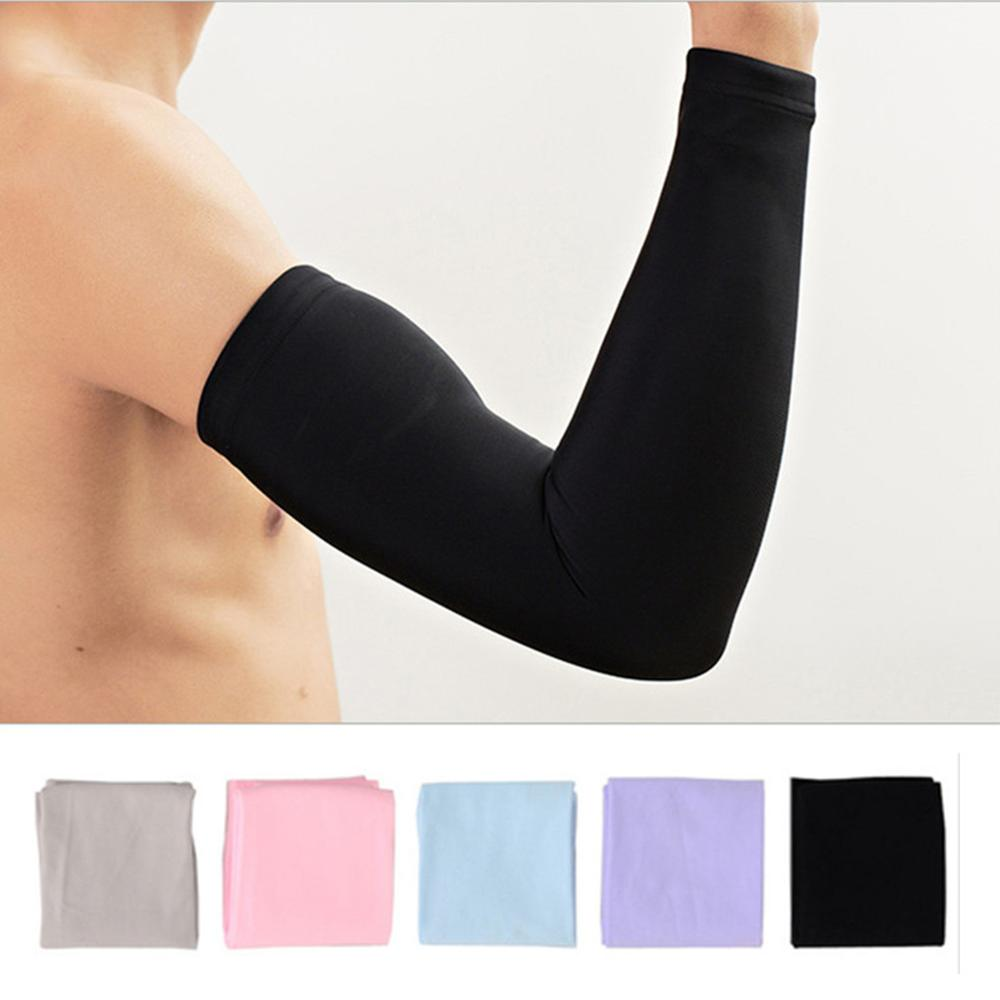 1 Pair Men Women Cycling Arm Sleeve Running Bicycle Cycling Cuff Sun Protection Cuff Cover Protective Anti-sweat Arm Warmers