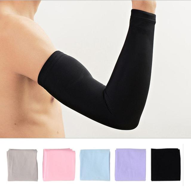 1 par men women ciclismo braço manga correndo bicicleta ciclismo manguito proteção solar manguito capa protetora anti-suor aquecedores de braço 1