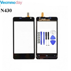 Vecmnoday 4.0'' Touchscreen For Nokia Microsoft Lumia 430 N430 Touch Screen Digitizer Sensor Panel Front Glass + tools