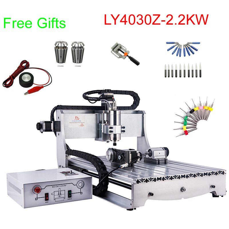 2.2KW CNC milling machine cnc metal engraving amchine with 2200W water cooling spindle
