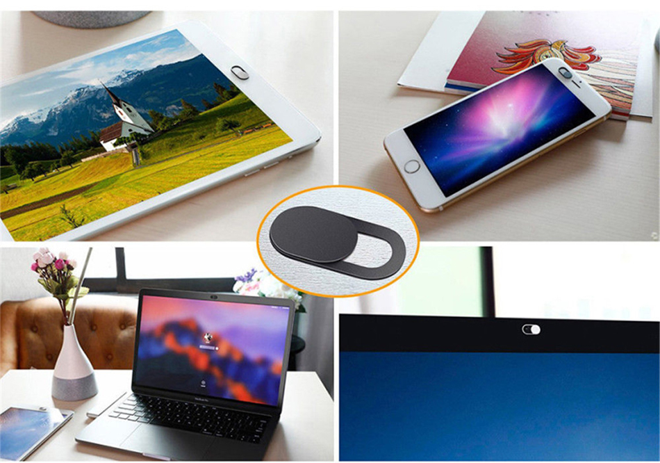 !ACCEZZ WebCam Cover Shutter Magnet Slider Plastic Camera Cover Macro Lens For Web Laptop iPad PC Macbook Tablet Privacy Sticker (2)
