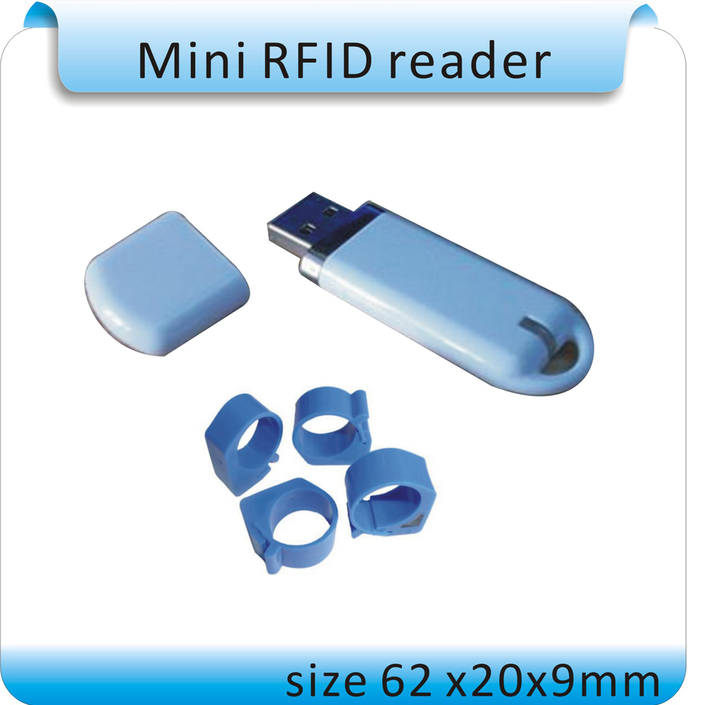 Free Shipping ISO11785/84 U-disky Style 125-134.2KHZ FDX-B Animal Management Label Reader, Animal RFID Tags Reader+2pcs Tags