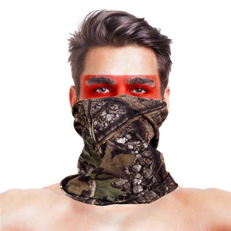 Камуфляжный шарф с высоким прыжком, бандана для мужчин и женщин, маска для лица, тактическая, для улицы, волшебный головной убор, для кемпинга, пешего туризма, шейный шарф - Цвет: 003