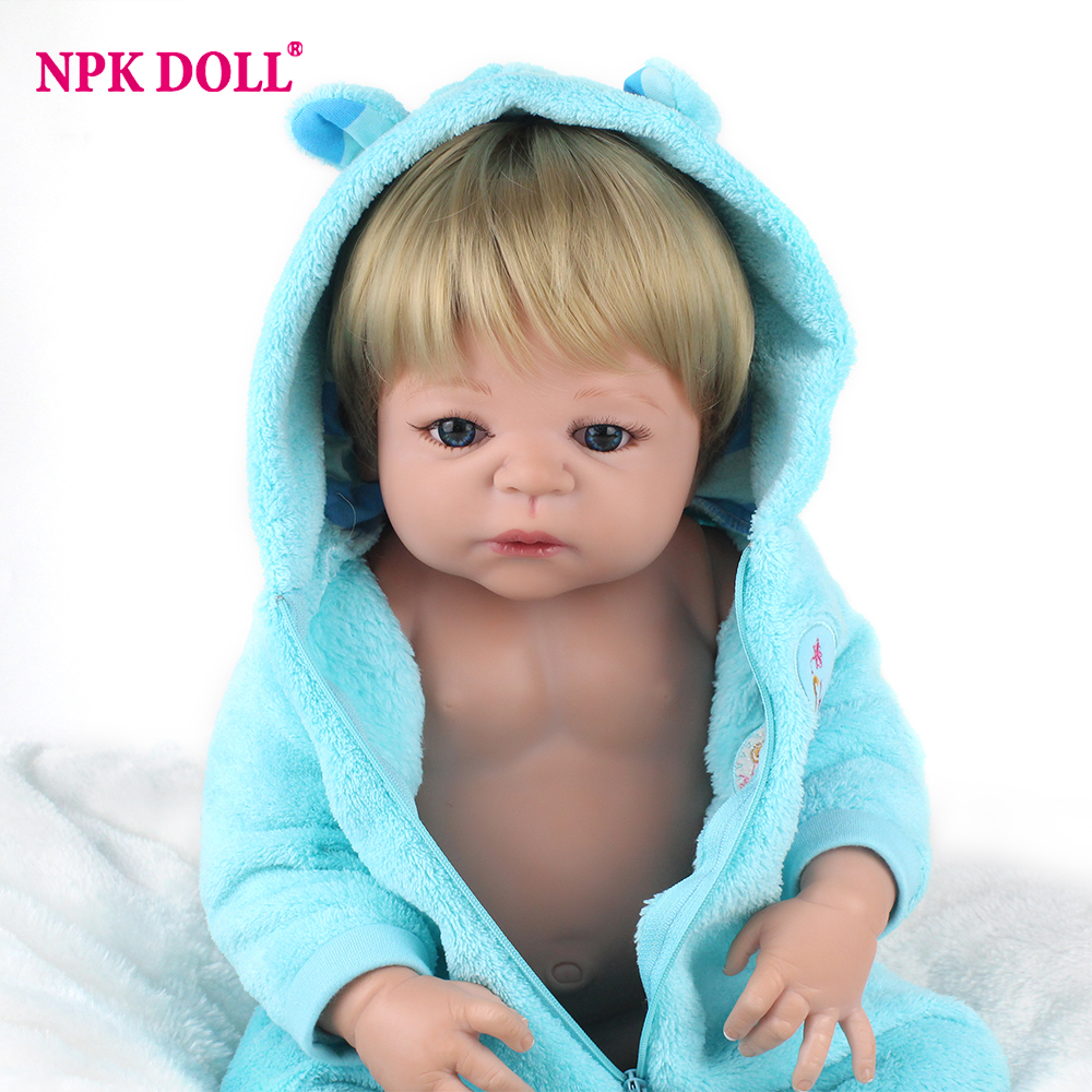 NPKDOLL для Reborn 55 см реалистичные полный тело силикона Кукла реборн для девочек Реалистичная кукла игрушки на Рождество коллекция