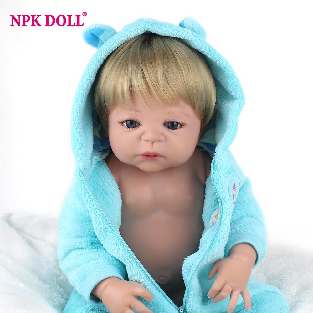 NPKDOLL Baby Reborn 55 cm Lebensechte Vollen Körper Silikon Reborn Puppe für mädchen Realistische Baby Puppe Spielzeug Für Weihnachten SAMMLUNG lol-in Puppen aus Spielzeug und Hobbys bei AliExpress - 11.11_Doppel-11Tag der Singles 1