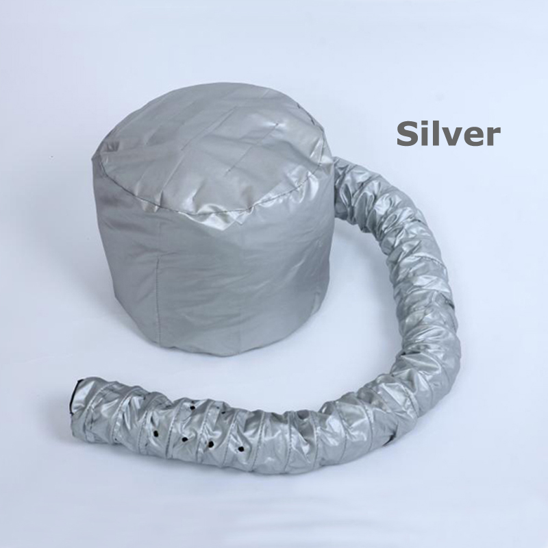 Портативные вытяжки для сушки волос, мягкая шапочка для завивки волос, головной убор, переносная быстросохнущая шапочка для волос, для дома/салона, парикмахерские, легко использовать - Цвет: Silver
