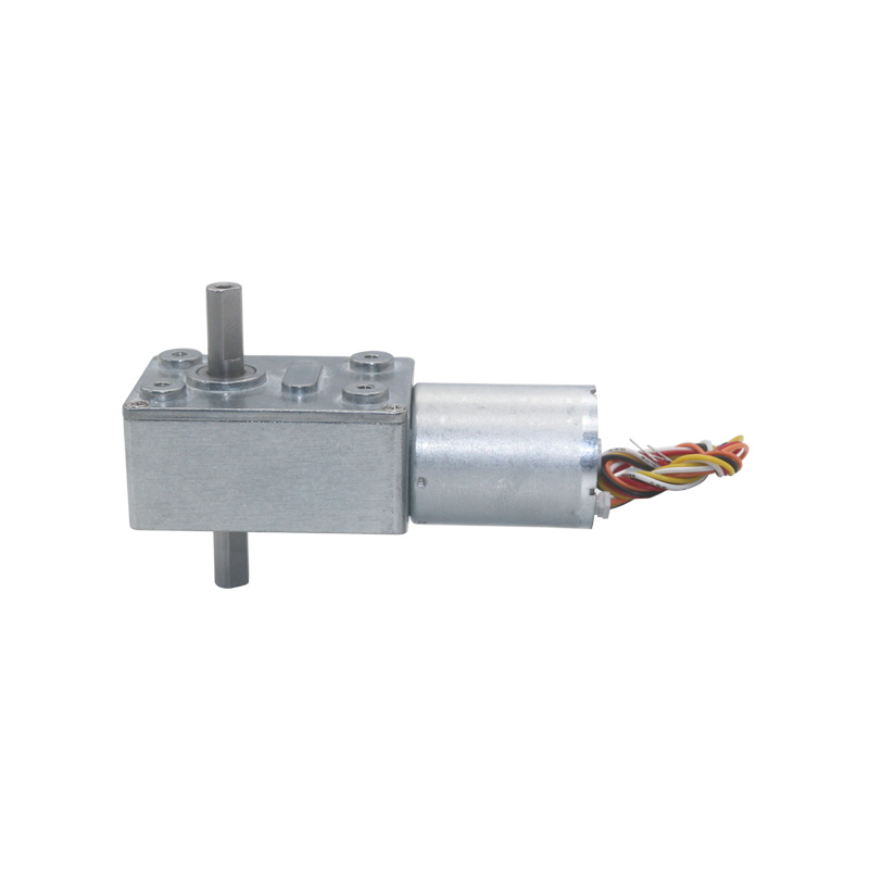 BLDC Dual Output Shaft Worm Gear Motor Low Noise Long Life DC12V 24V 2RPM to 150RPM JGY370-2430D цена