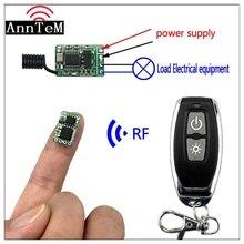 Anntem RF 1CH Mini DC3.5V 9 v To 12 V 433 mhz รีโมทคอนโทรลไร้สายโมดูลควบคุมแบตเตอรี่ power Switch โมดูล