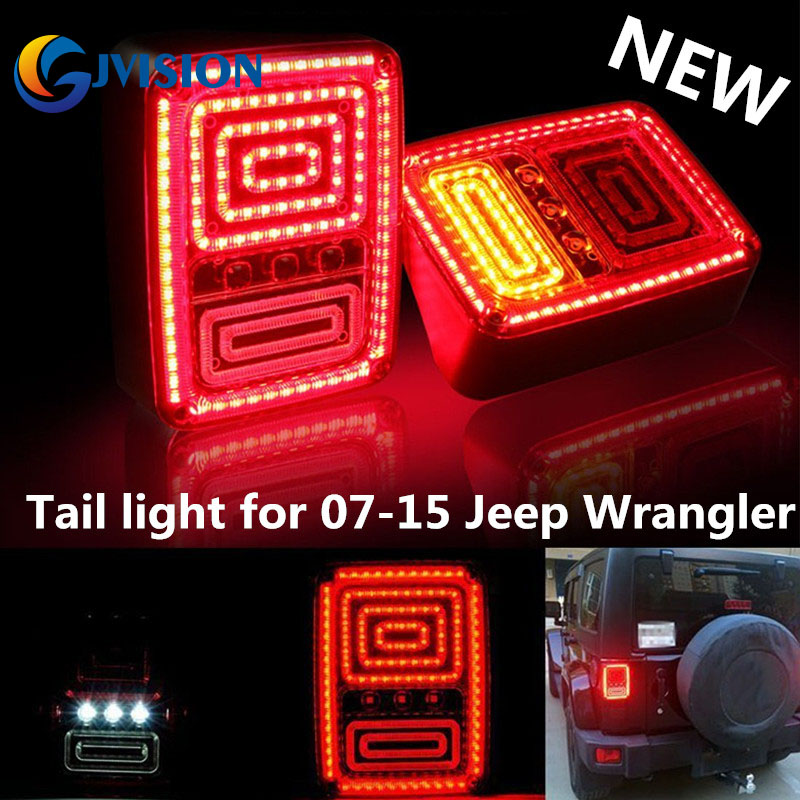 For Jeep third brake light led tail light Running/Turn/Brake/Reverse light for Jeep Wrangler JK 2pcs brand new high quality superb error free 5050 smd 360 degrees led backup reverse light bulbs t15 for jeep grand cherokee