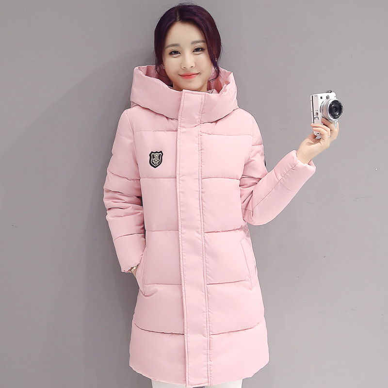 2018 High Quality Fashion   Down     coat   Women Winter Longe Sections Hooded Parkas Thick Warm Cotton Slim Jacket winter   coat