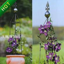 Hoya wire lotus pillar Climbing frame assembly/flower wearing two sets of glass ball
