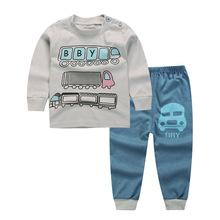 Noworodek małe dzieci chłopcy ubrania zestaw Baby Boy ubrania moda Toddler Baby Odzież Toddler Bebe zestaw wiek 12M3T5T6T zestawy mody tanie tanio Unini-Yun Bawełna Chłopców Pełne Kreskówki O-Neck Regularne od 8 do 12 5 Płaszcz Sweter Pasuje do rozmiaru Weź swój normalny rozmiar