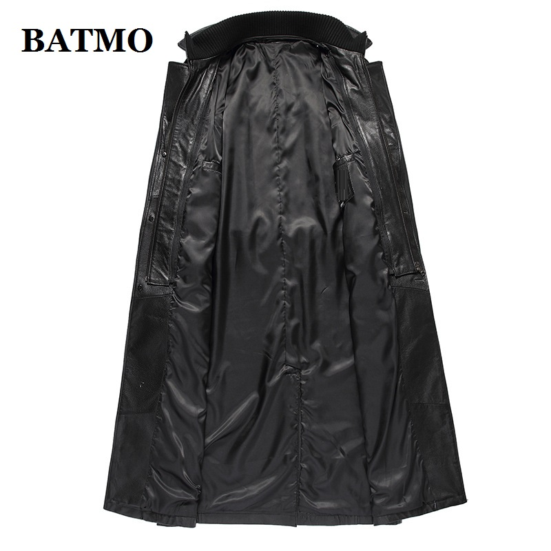 068451cd0641 BATMO 2018 New Arrival Winter 100% Natural Cow Leather Double ...