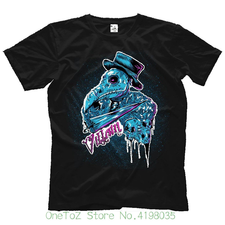 Adult Mens / Unisex Marty Scurll Sick Villian Soft Hq Tee - Black Hip-hop Simple Splicing Tee Tops Shirt
