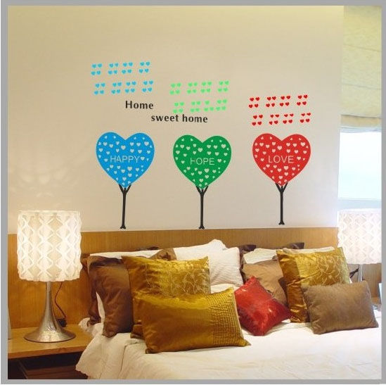 sweet home wallpaper designs. Hope Love and Happy home sweet wallpaper Wall Decals  PVC Removable Home