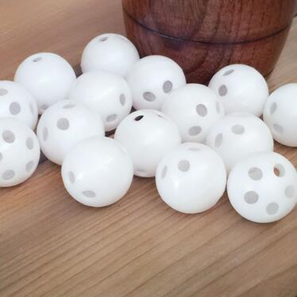 50pcs / 100pcs 24mm Vit Toy Rattle Ball Reparation Byt Buller Maker Box För Toy Bear Doll
