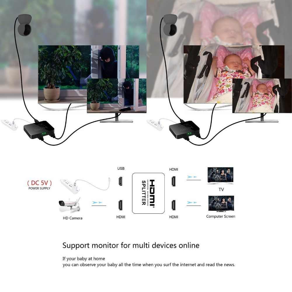 HDMI 1 в 2 Выход 2 к * 4 к 1x2 HDCP усилитель сигнала для зачистки HDMI Разветвитель переключатель 1 вход 2 выхода 4 к HDMI коммутатор для ПК ноутбука