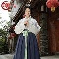 Высокого класса качества в китайском стиле одежды традиционный hanfu женский принцесса вышитые hanfu китайский народный танец одежды