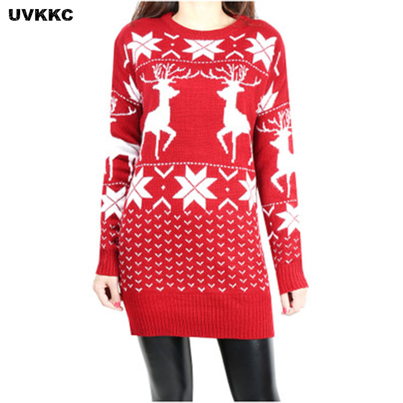 Women Christmas Jesus Print Sweaters Casual Long Sleeve Autumn O Neck Deer Pattern Slim Pullover Sweater Winter Casual Tops