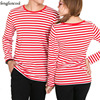 Striped Long Sleeves Men Women T Shirts Casual Spring Autumn T Shirt Loves Boy And Girl