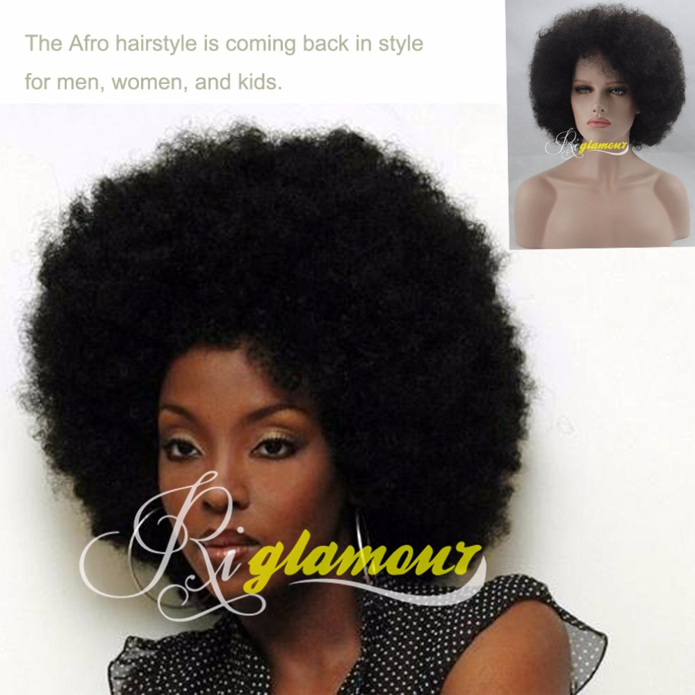 Short Afro Wig Black Kinky Curly Lace Front Synthetic Hair Wigs For Women Heat Resistant Half Hand Tied 1b On Aliexpress Com Alibaba Group