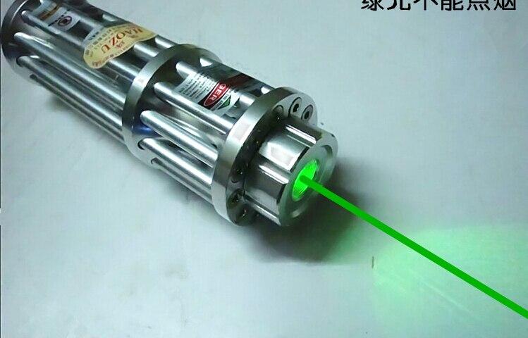 Puissant 50 W 50000 M Gravure Lazer lampes de Poche 532nm SOS Militaire Vert pointeur laser brûlure Pop Ballon L'astronomie + 5 caps chasse