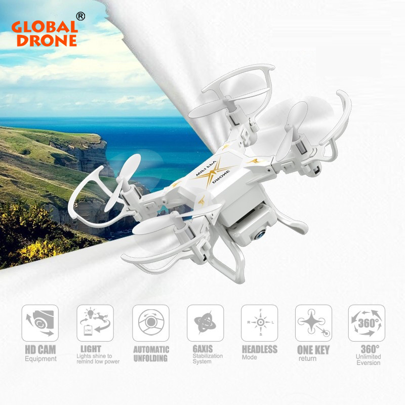 Global Drone Mini Drone with Wifi Camera Headless Mode drones 6 Axis Gyro quadrocopter 2.4GHz 4CH RC Helicopter VS CX10 JJRC H36