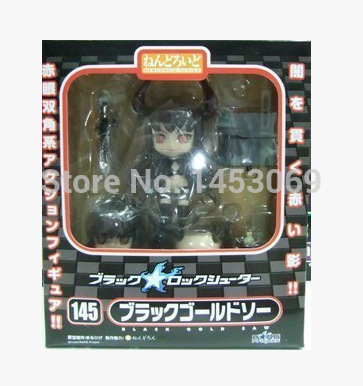 Anime Black Rock Shooter blackened Hatsune #145  Q version Nendoroid PVC Action figure Collectible Model Toy Doll 1
