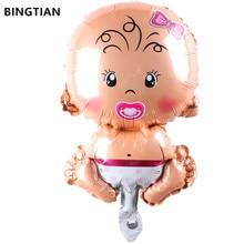BINGTIAN mini  Boy, girl ,animal balloons children Baby aluminum helium balloon birthday party decoration ball classic toys