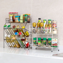 Home Tieyi Multilayer Condiment Shelf Kitchen Goods Placement Shelf Floor To Ground Condiment Shelf Receiving Shelf