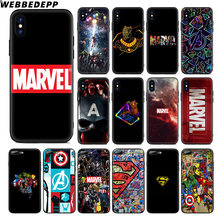 Webbedepp avengers marvel captain américa caso de silicone macio para apple iphone 11 pro xr xs max x ou 10 8 7 6 s mais 5 5S se tpu(China)