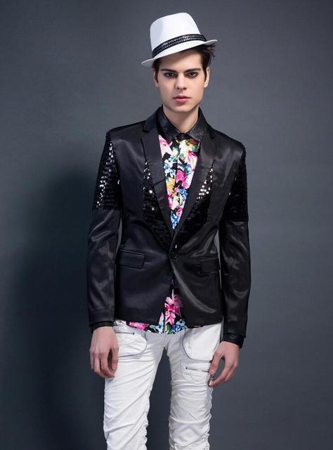 0b9f925c8 Personalidad lentejuelas blazer hombres formal vestido última capa diseños  traje hombres baile cantante terno masculino trajes