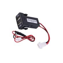 Biurlink 2 шт USB зарядное устройство Панель USB переключатель порт зарядки для Toyota Vigo