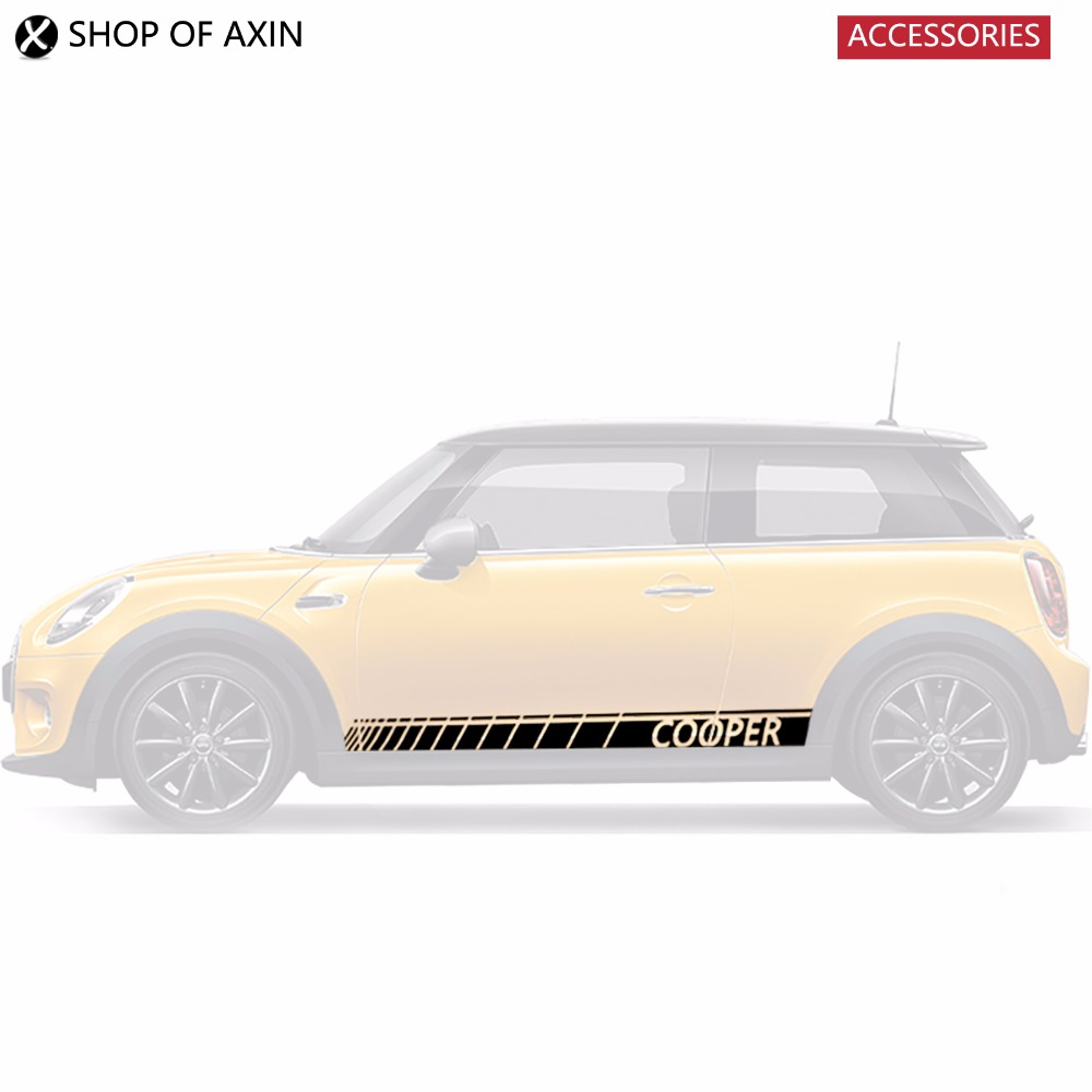 Car Door Rocker Panel Decoration Sticker Graphics For Mini cooper Clubman Countryman Hardtop R50 R53 R55 R56 R60 R61 F54 F55 F56 aliauto car styling side door sticker and decals accessories for mini cooper countryman r50 r52 r53 r58 r56