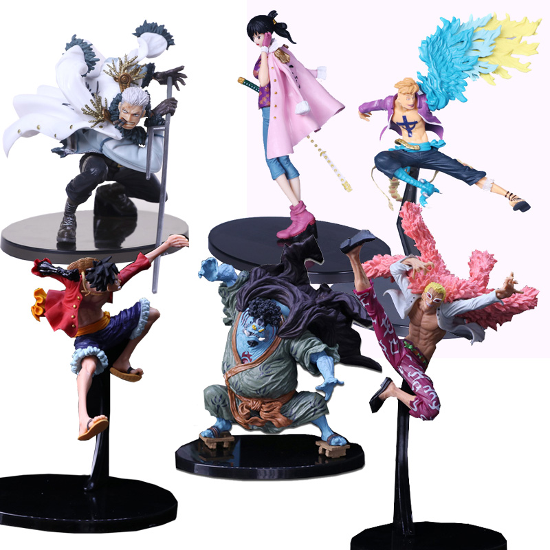 One Piece Pvc Action Figures Collection Model Monkey D Luffy Smoker Tashigi Doflamingo Marco Jinbe Anime Toys Decoration Wx293 Excellent Quality In