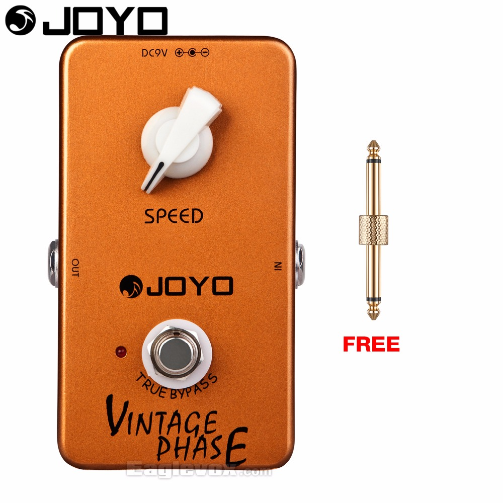 JOYO JF-06 Vintage Phase Electric Guitar Effect Pedal True Bypass with Free Connector mooer ensemble queen bass chorus effect pedal mini guitar effects true bypass with free connector and footswitch topper