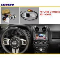 For Jeep Compass 2011~2016 Car Rear View Back Up Reverse Camera Sets / RCA & Original Screen Compatible / Parking Camera