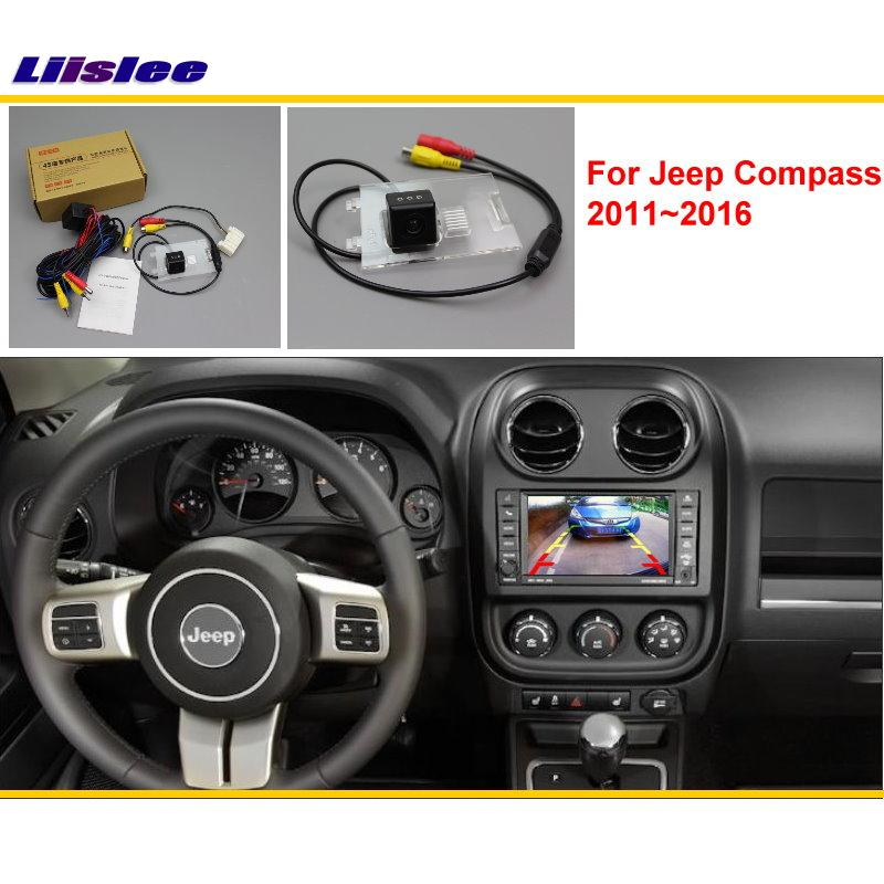 Liislee For Jeep Compass 2011 ~ 2016 Bil Bakifrån Back Up Reverse Kamera Sets / RCA & Original Skärm Kompatibel / Parkering Kamera