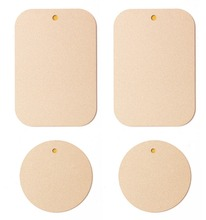 APPS2Car Metal Plate with 3M Adhesive for Magnetic Car Mount Phones/Tablet/GPS Holder Apple Gold Color [2 Rectangular 2 Circle]