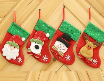 50 pcs Christmas Decoration For Home Gift New Year Christmas Boot Decoration Ornaments Supplies