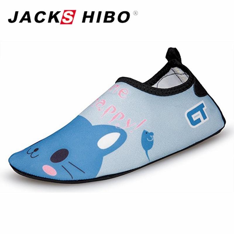 JACKSHIBO Summer Kid Water Shoes Barefoot Footwear Light Weight Kids Quick Drying Aqua Shoes For Child Beach Pool Cartoon Shoes