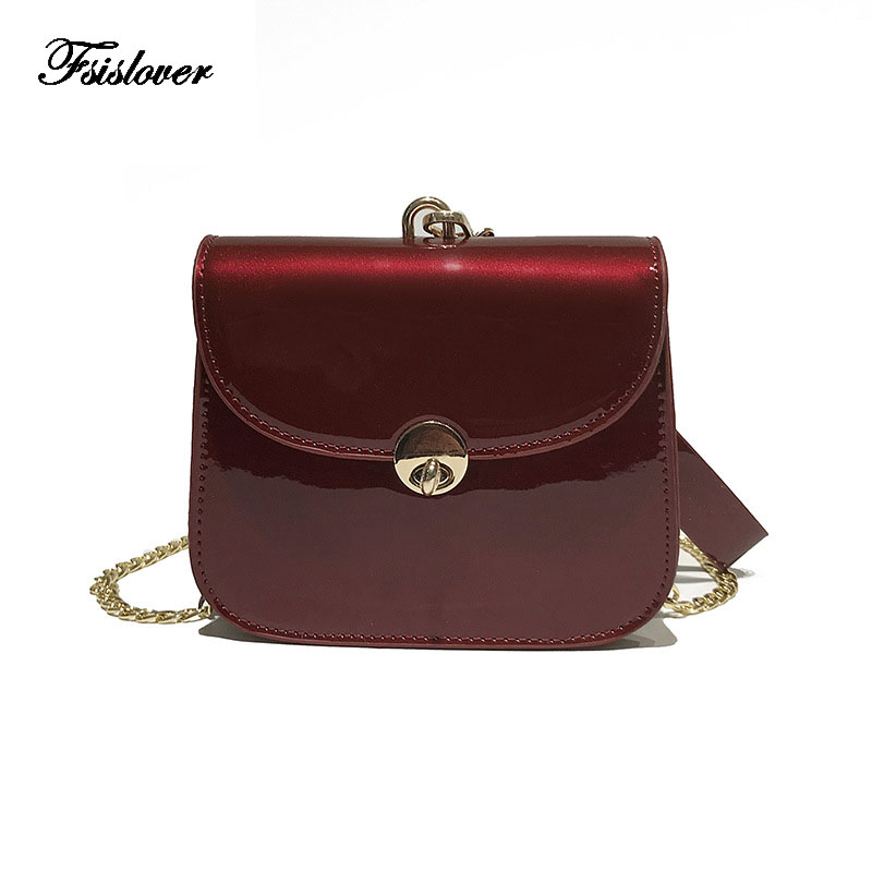 FSISLOVER Summer 2018 Small Handbag PU leather Women Hand Bags Chain bag Lady Travel Beach Shoulder Cross Body Bag Holiday sac
