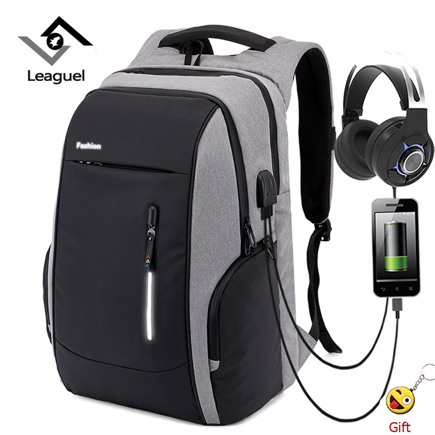 Leaguel Backpack Men Laptop Charging Anti Theft Backpacks Oxford Large Capacity Teenagers School Bag Travel bag bookbag ozuko 14 inch laptop backpack large capacity waterproof men business computer bag oxford travel mochila school bag for teenagers