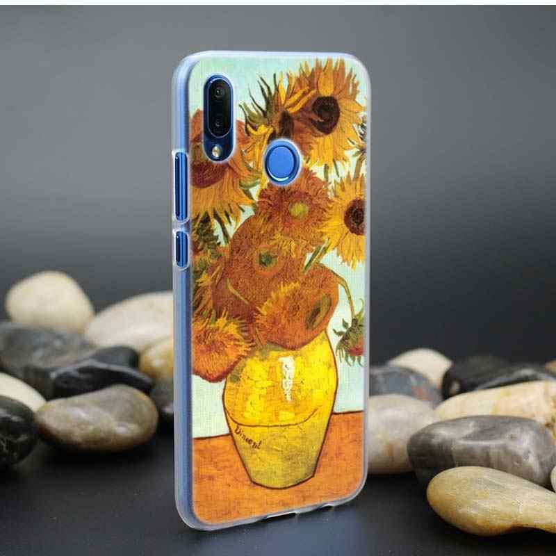 Sky Van Gogh Case for Huawei P20 P Smart Nova 4 3i P30 P10 P9 P8 lite Pro mini 2017 2019 Clear PC Hard Coque Cover Phone Shell